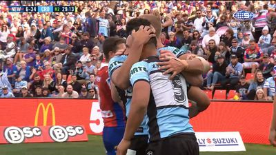Cronulla five-eighth Matt Moylan stars in Sharks' rout of Newcastle Knights