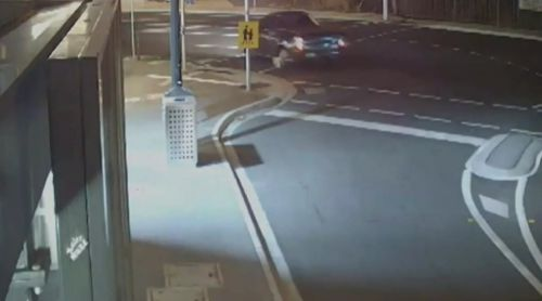 Police have released CCTV of the Ford ute believed to be responsible for the hit-run. (Victoria Police)