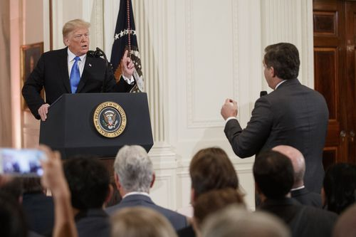 Trump labels Acosta a 'rude, terrible person'.