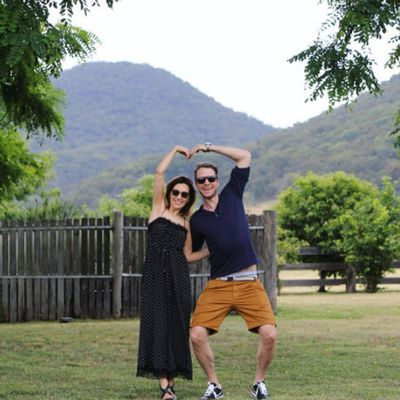 Hamish Blake and Zoe Foster-Blake celebrate their anniversary at Emirates One & Only Wolgan Valley, the Blue Mountains