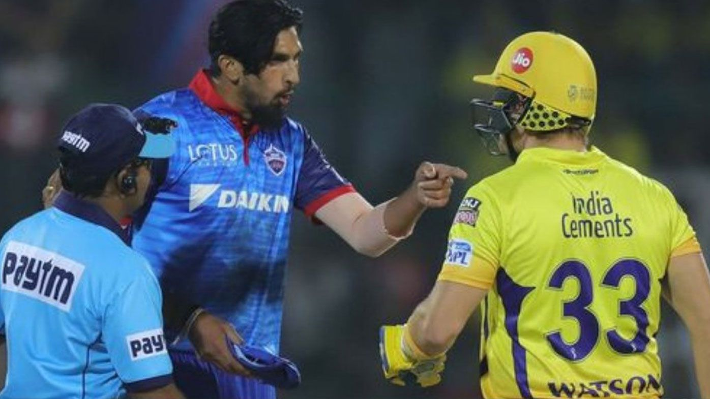 Shane Watson clashes with Ishant Sharma and Kagiso Rabada in Super Kings' IPL win