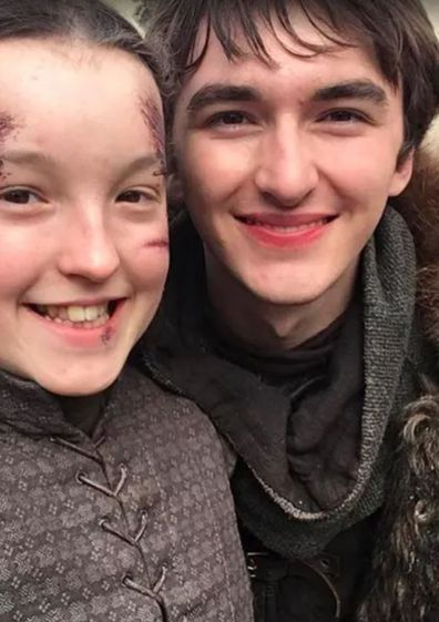 Bella Ramsey and Isaac Hempstead Wright on Game of Thrones