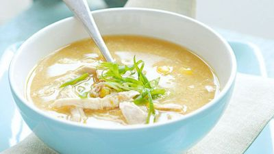 "Recipe: <a href=""http://kitchen.nine.com.au/2016/05/19/17/27/chicken-and-sweet-corn-soup"" target=""_top"">Chicken and sweet corn soup</a>"