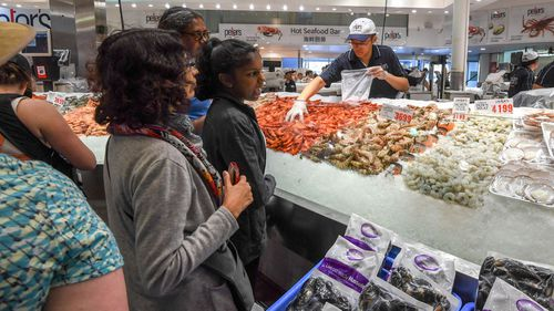 More than 50,000 people are expected to buy 650 tonnes of seafood at the Sydney Fish Market over the long weekend. (AAP)