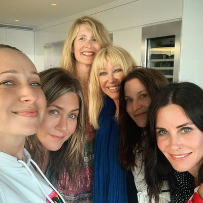 Courteney Cox, Jennifer Aniston, Laura Dern and friends