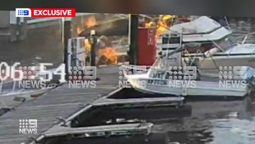 It is understood the flames engulfed the boat after the skipper turned over the engine after a refuel.
