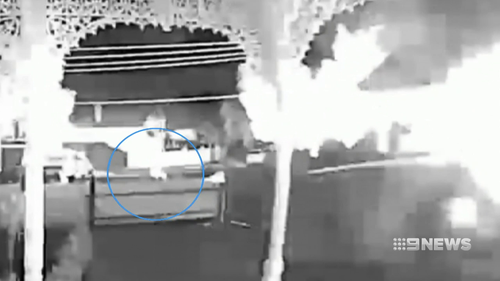 Ascot Vale fire: Suspected arsonist caught on camera
