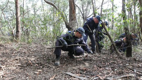 Karlie Pearce-Stevenson's skeletal remains were found in Belanglo State Forest in August 2010. Picture: AAP