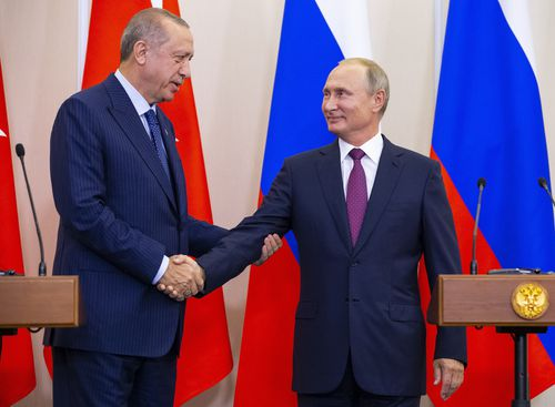 Russia's Vladimir Putin and Turkey's Recep Tayyip Erdogan agreed to set up the buffer zone after a three-hour meeting.