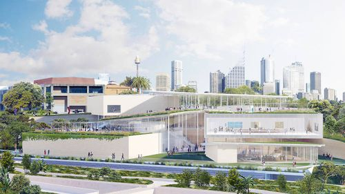 The $344 million project will double the exhibition space and connect to the Botanic Gardens.