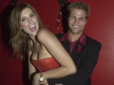 Kate Fischer and Nathan Harvey at 'Splash of Red' Evening for an AIDS Cause in Sydney in 2000