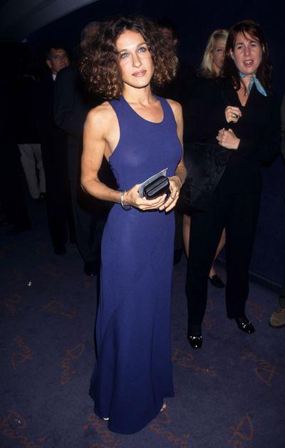 Sarah Jessica Parker at the&nbsp;New York City Premiere of <em>First Wives Club, </em>1996