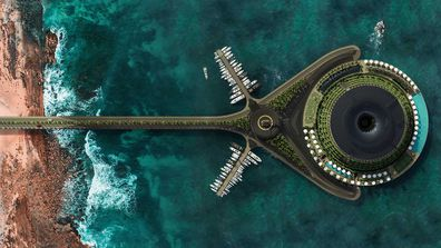 Eco floating, spinning hotel designs for Qatar