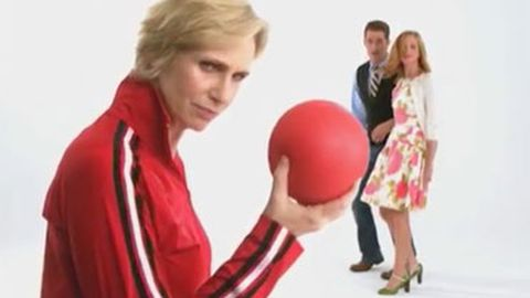 Glee cast attacked by dodgeballs in season three promo