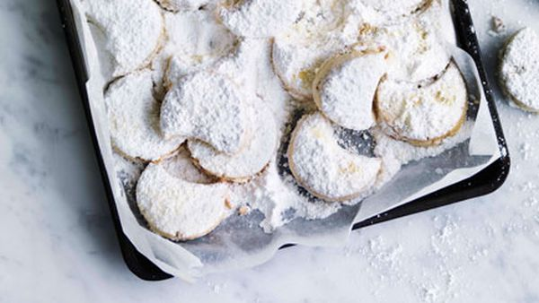 Almond and rosewater shortbread