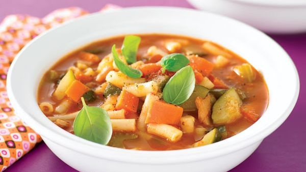Meal in a bowl minestrone