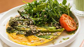 Greens and pesto omelette recipe