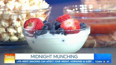 Bowl of yoghurt and berries on Today Show