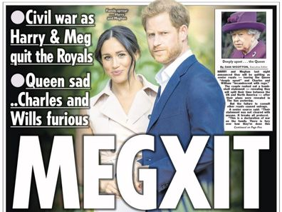 British newspapers react to Prince Harry and Meghan Markle's shock move