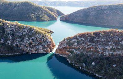 Western Australia's horizontal waterfall in Talbot Bay