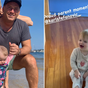 Karl Stefanovic's daughter Harper takes first steps