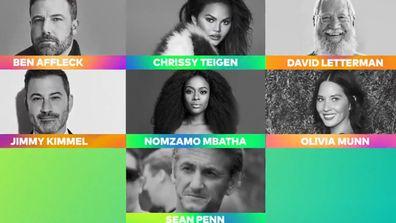 Ben Affleck, Chrissy Teigen, David Letterman, Jimmy Kimmel, Olivia Munn, Sean Penn in Global Citizen Vax Live promo video