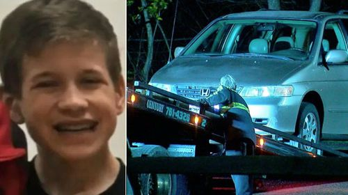 Kyle Plush, 16, was crushed to death inside a Honda Odyssey. (Images: Twitter).