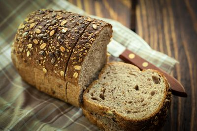 <strong>...a slice of wholegrain bread.</strong>