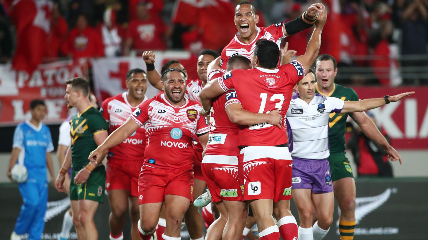 Brad Fittler and Andrew Johns roast 'terrible' Kangaroos after historic loss to Tonga