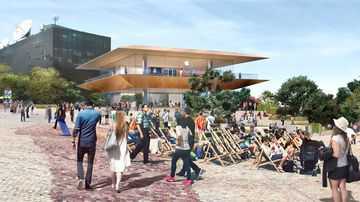 Apple's planned two-storey flagship store. (Victorian Government)