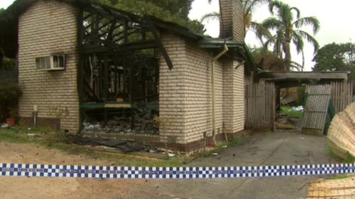 Police cordoned off the scene following the suspicious fire. (9NEWS)