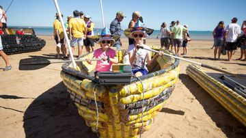 Calls for Darwin's famous beer can regatta to lose funding