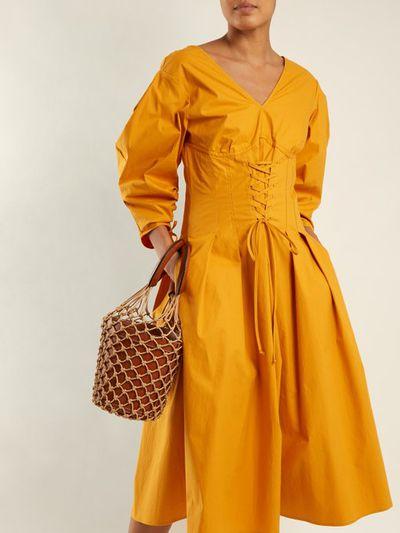 "<a href=""https://www.matchesfashion.com/au/products/Sea-Windbreaker-corset-waist-cotton-blend-dress-1187489"" target=""_blank"" title=""Sea Windbreaker Corset Waist-Cotton Blend Dress, $378"">Sea Windbreaker Corset Waist-Cotton Blend Dress, $378</a>"