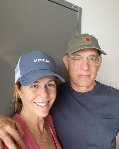 Tom Hanks and Rita Wilson in isolation