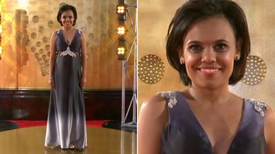 Love Child actress Miranda Tapsell stunned with the simplicity of her gown from By Weave.