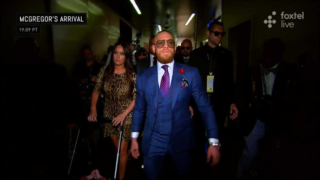 McGregor struts into arena