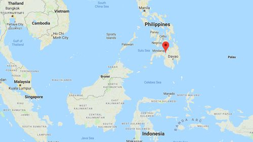 The southern city of Marawi (marked) in the Philippines was under-siege from Islamic State-linked Maute terrorists for nearly five months. (Google Maps)