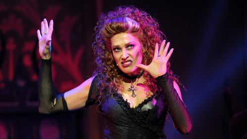 Erika Heynatz performs as Magenta in The Rocky Horror Show. (AAP)