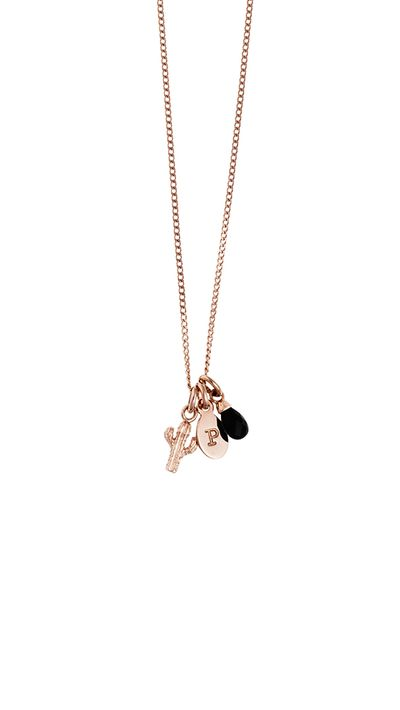 "<p><a href=""http://www.kirstinash.com/detail/BESPOKE-CHAIN-16-18-18K-ROSE-GOLD-VERMEIL"" target=""_blank"">Bespoke Chain, $48</a>, <a href=""http://www.kirstinash.com/detail/CACTUS-CHARM-18K-ROSE-GOLD-VERMEIL"" target=""_blank"">Cactus Charm, $36</a>, <a href=""http://www.kirstinash.com/detail/P-OVAL-LETTER-18K-ROSE-GOLD-VERMEIL"" target=""_blank"">Oval Letter, $32</a>, and <a href=""http://www.kirstinash.com/detail/BLACK-AGATE-GEMSTONE-18K-ROSE-GOLD-VERMEIL"" target=""_blank"">Black Agate Gemstone, $44</a>, Kirstin Ash</p>"