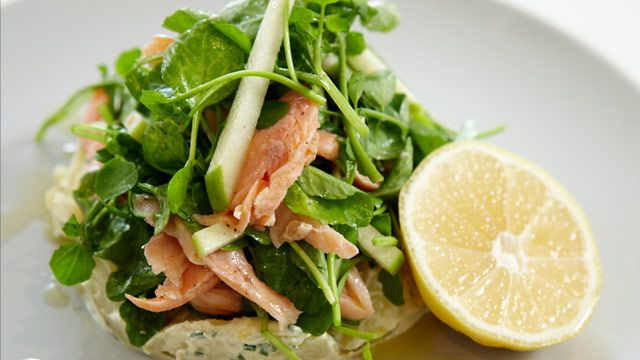 Manu's smoked rainbow trout, kipfler potato and watercress salad