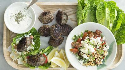 "Recipe:&nbsp;<a href=""http://kitchen.nine.com.au/2017/08/10/16/19/lamb-kofta-lettuce-wraps"" target=""_top"">Lamb kofta lettuce wraps</a>"