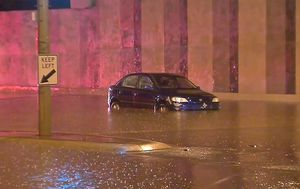 Weather: Commuter chaos in Melbourne after a month of rain falls in one day