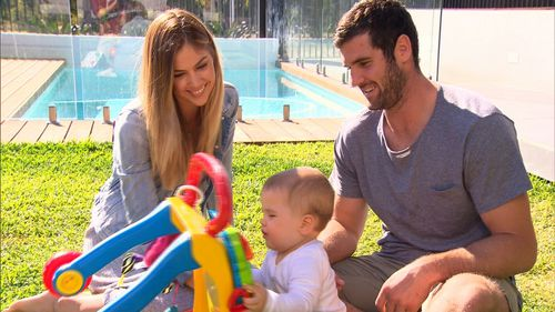 Jack Darling with wife Courtney and son Max.