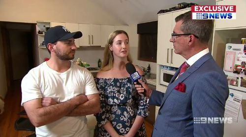Luke Galea and fiance Kristi Peek have moved to the Hunter Valley to buy their own home. Picture: 9NEWS