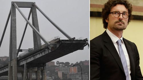 "Transport Minister Danilo Toninelli says whoever is responsible for the collapse ""must pay""."