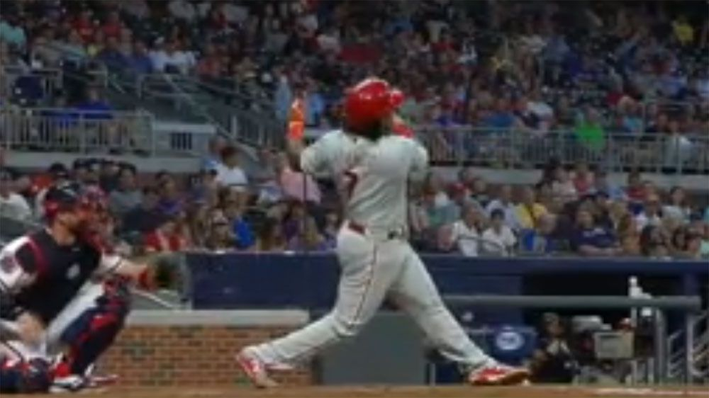 Play delayed when bat is hurled into back stop netting in Phillies,Braves MLB match
