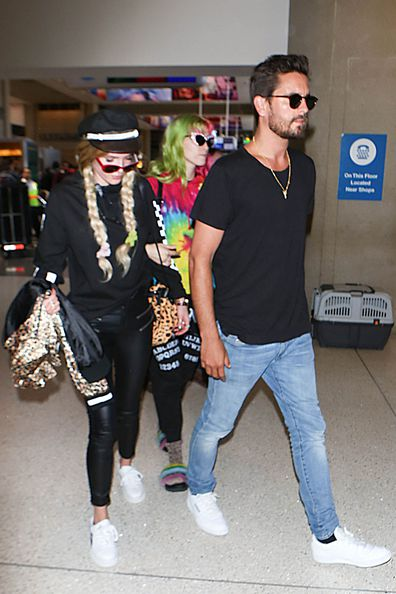 Scott Disick and Bella Thorne are seen at LAX on May 22, 2017 in Los Angeles, California.