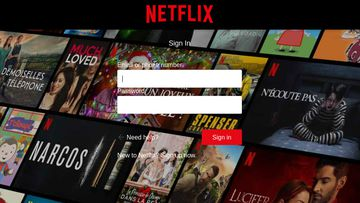 Users are directed to a fake Netflix login page.