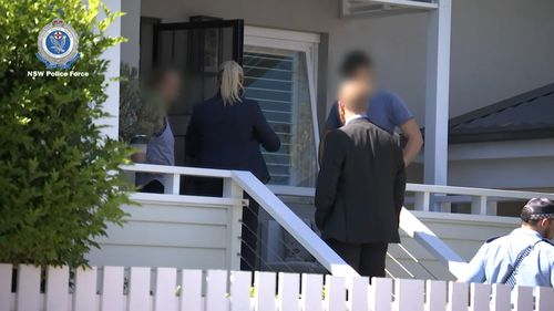 Police attended a home in Balgowlah at midday yesterday.