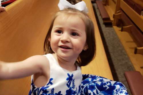 Felicity Karam, 2, was getting an ice cream on Sunday in Missouri, when the truck hit and killed her.